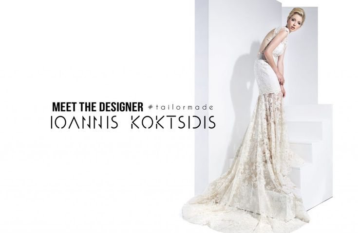 Maxi Lace open-back Wedding Dress by Ioannis Koktsidis #ioanniskoktsidis #operafhouse