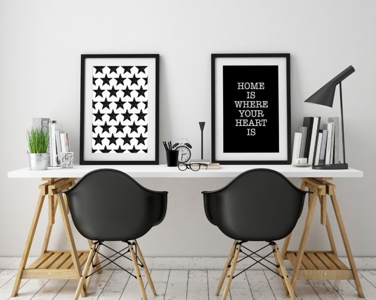Poster frames template, workspace mock up, background