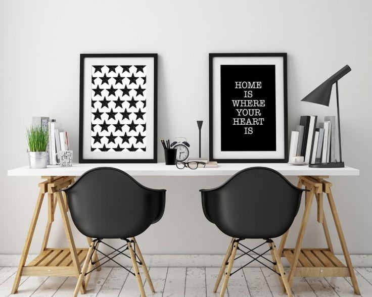 Poster frames template, workspace mock up, background