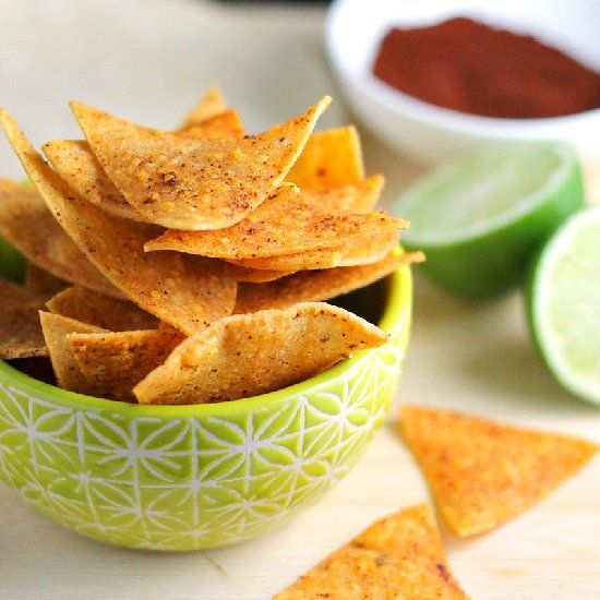 These crunchy, baked tortilla chips are guacamole's best friend.