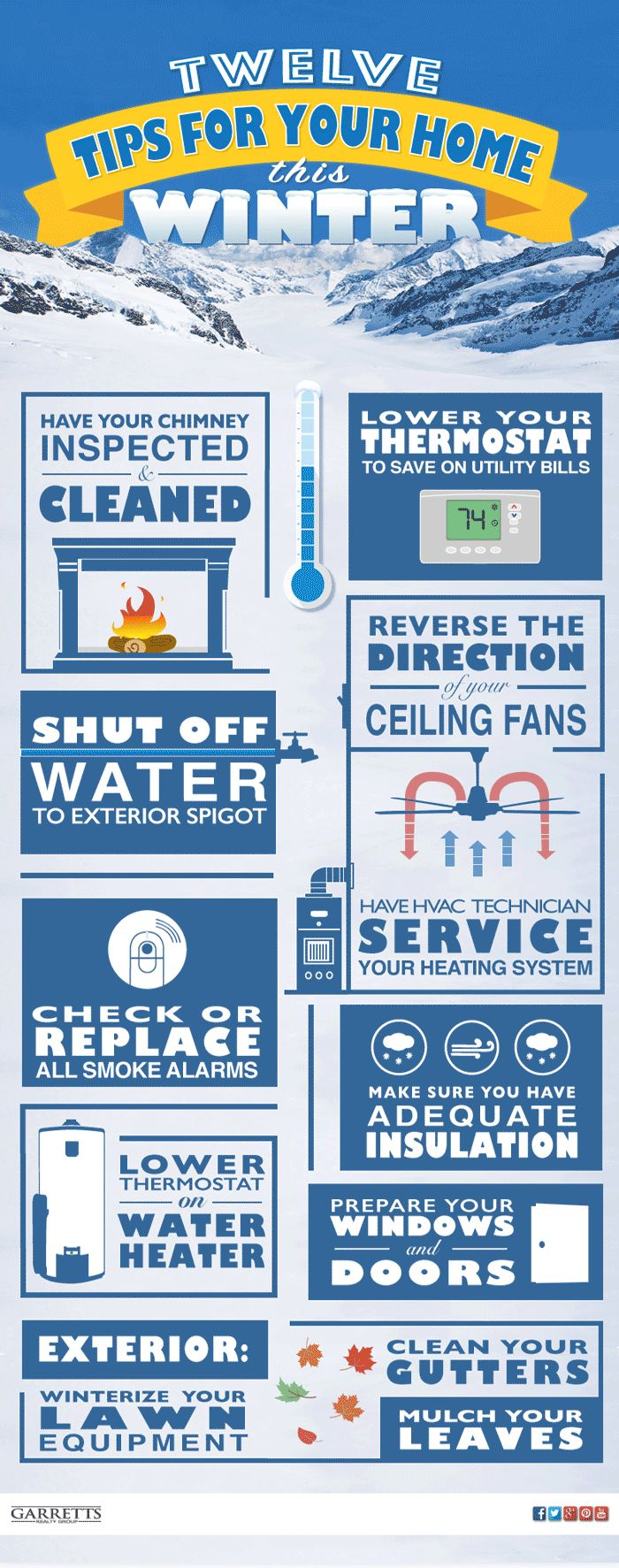 Easy to follow tips to get your Home ready for Winter.