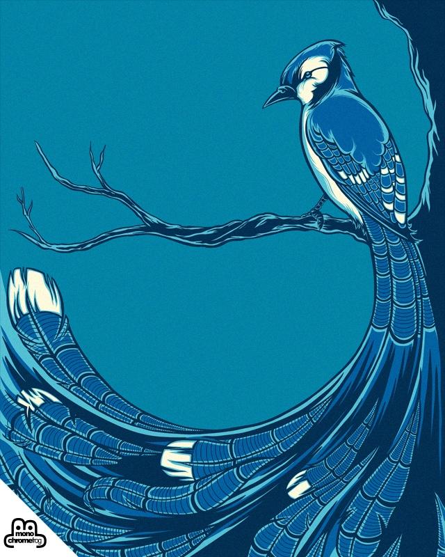 Blue Feathers :) #art #design #illustration