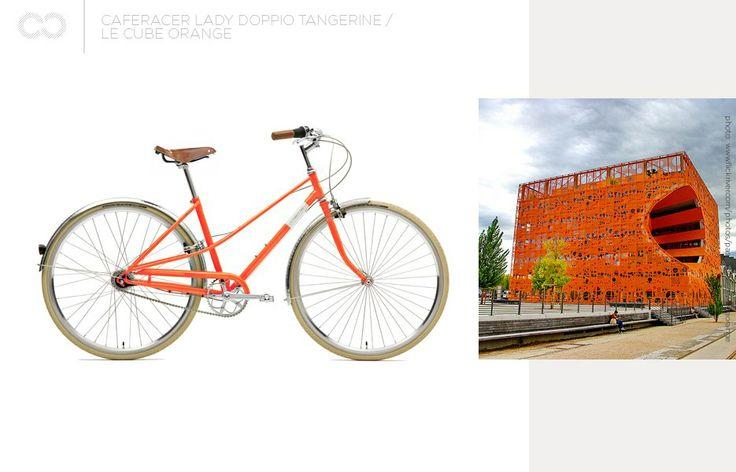 Creme Caferacer Lady Doppio Tangerine + Le Cube Orange  #bike #creme #cycles #cremecycles #cycling #ride #mybike #freedom #lifestyle #art #life #love #city #cyclingphotos