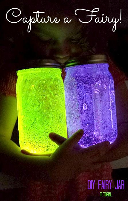Make your own Glow In The Dark Jars! They're so easy and the kids will have fun helping make them. They would also look great as decorations hanging from trees and for parties.