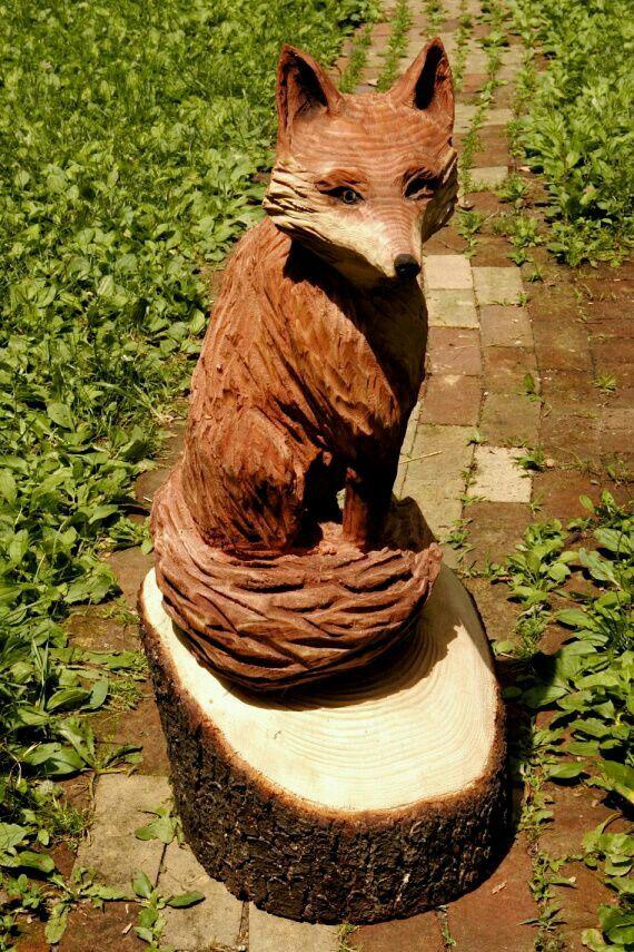 Besten wooden carvings fox bilder auf pinterest holz