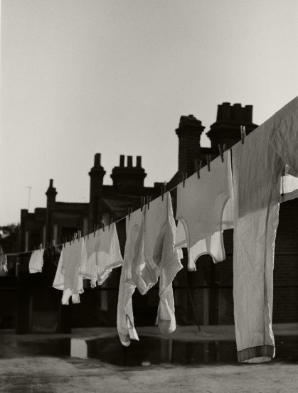 Photography by Tim Walker  WHITE WASHING LINE,  BERWICK UPON TWEED, NORTHUMBERLAND, UK, 2008  BRITISH VOGUE