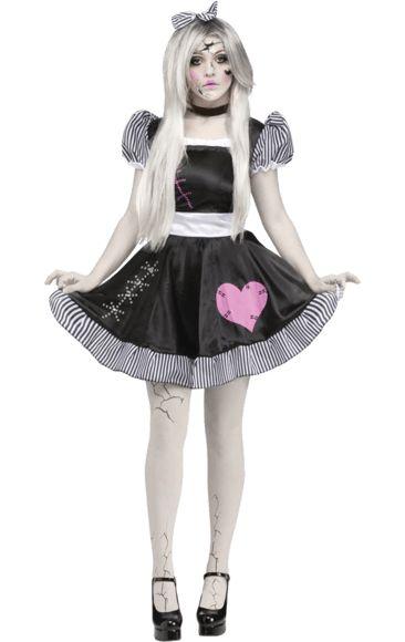 Adult Broken Doll Costume | Jokers Masquerade