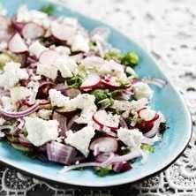 Sallad på rädisor - Recept - Tasteline.com