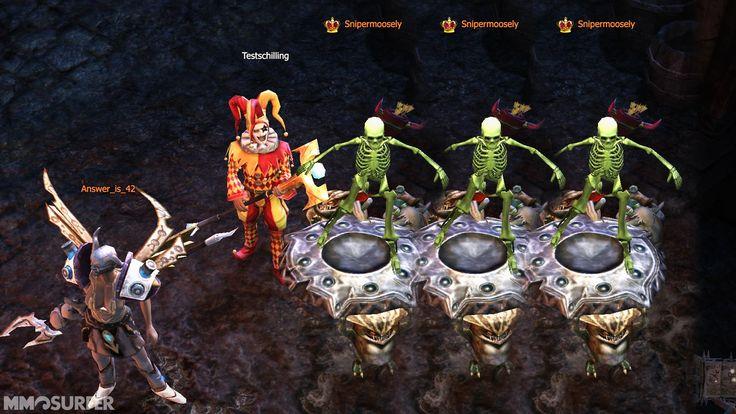 Das leuchtende Skelettkostüm soll mit Drakensang Online Release 158 live gehen.