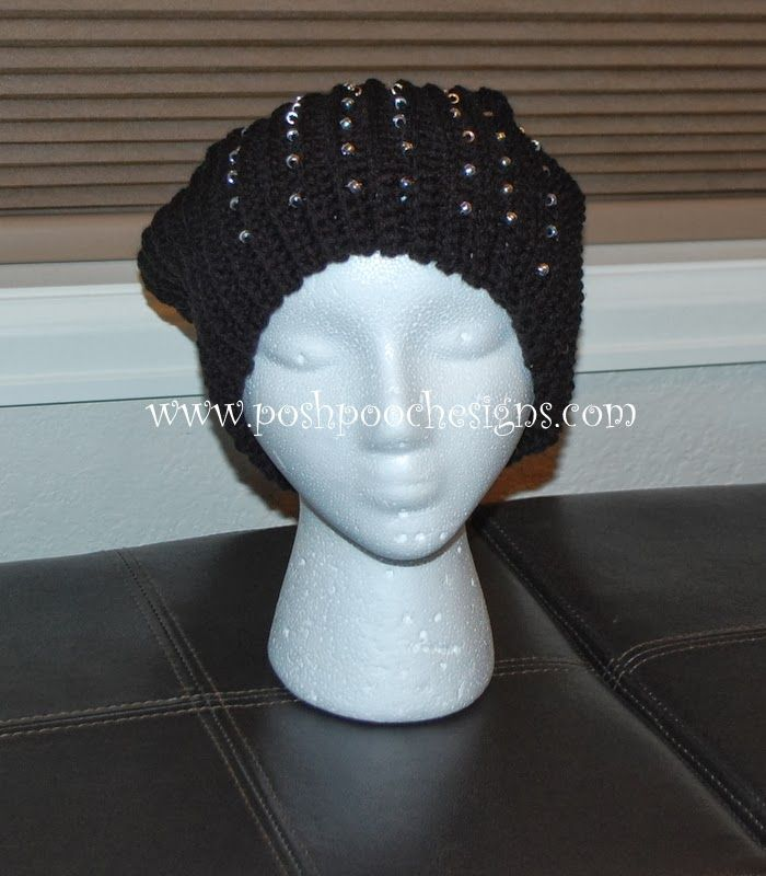 Crochet Hat Patterns With Beads : Beaded slouch hat free crochet pattern Crochet Hats and ...