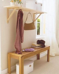 12 DIY storage ideas, like recessed shallow shelf behind a door and wire shelves for closet corners