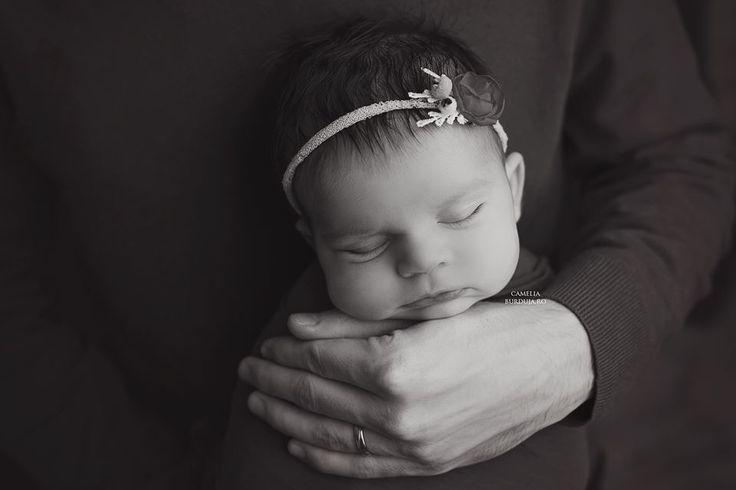 Peaceful newborn baby girl