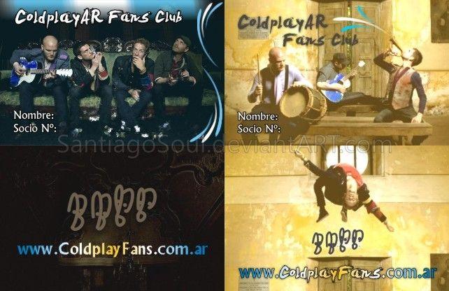 Credencial 2009/2010 del Club de Fans de Coldplay Argentina