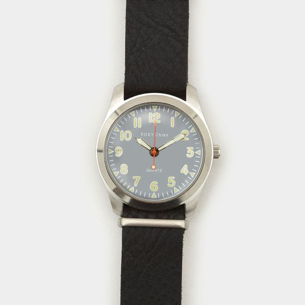 Tokyo Bay Basic Leather Watch Black | Shop Cool Material