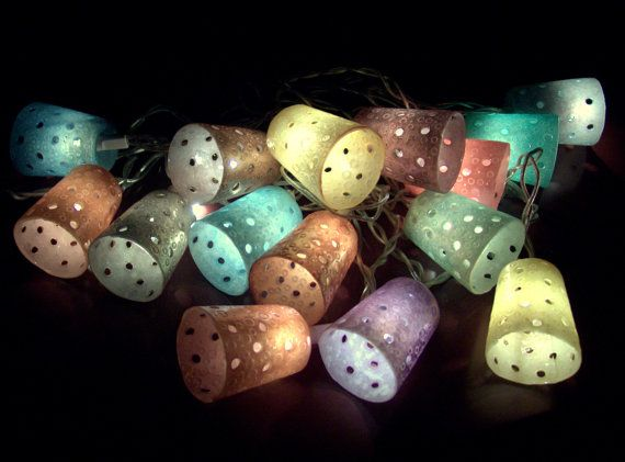 Decorative Polymer Clay Lights  TUTORIAL 3 in 1 by 1000and1, €15.00