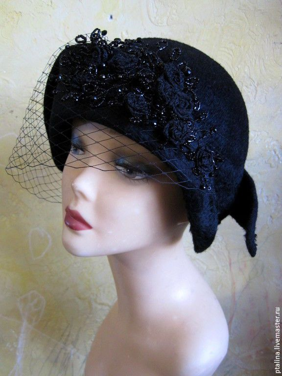 """Купить авторская эксклюзивная шляпка из фетра""""Ретро  Шик с розами  """" - шляпка, шляпа, ретро стиль"""