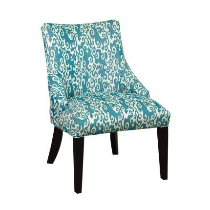 26 Quot Teal Upholstered Accent Chair Old House Aerie S