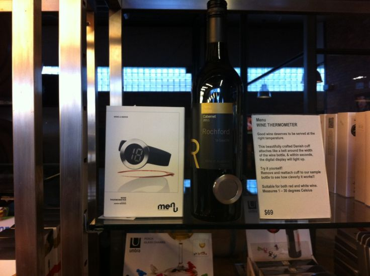 A thermometer designed to monitor temperature of a wine bottle!!