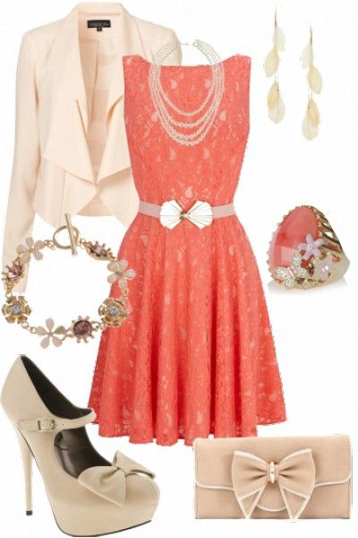 Such a cute girly outfit. So pretty and love the dress. #mystyle