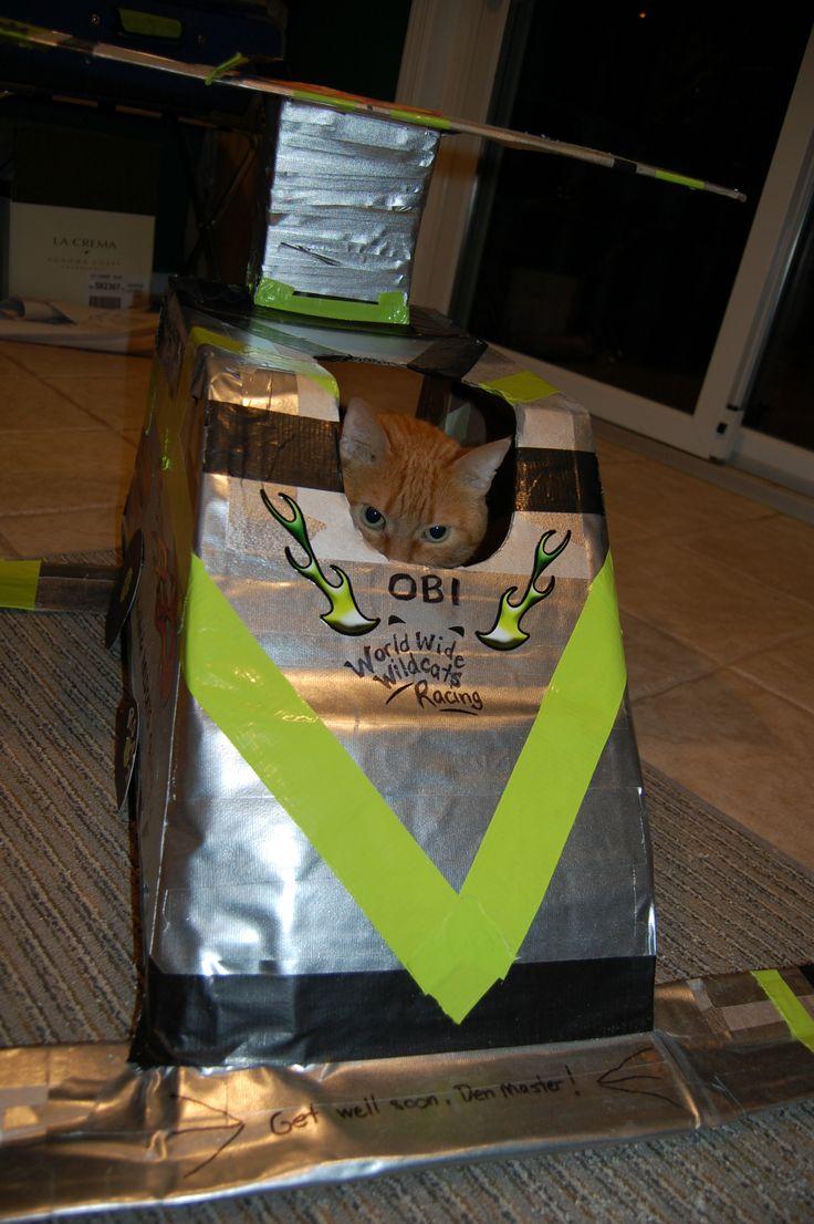 Obi, behind the wheel....