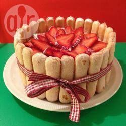 Foto recept: Aardbeien charlotte