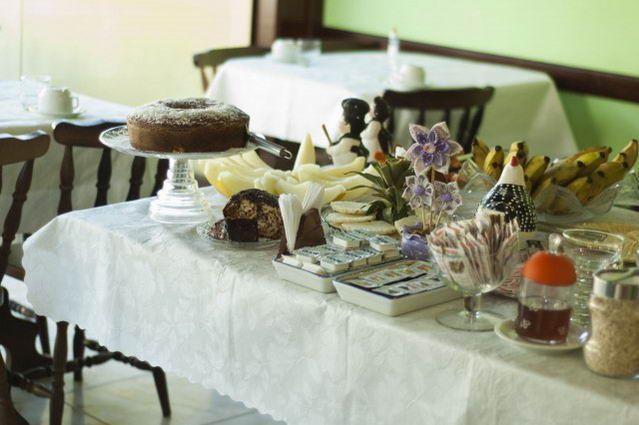 Foto de Pousada Porto Abraão em  Ilha Grande/RJ:  Detalhe do café da manhã.