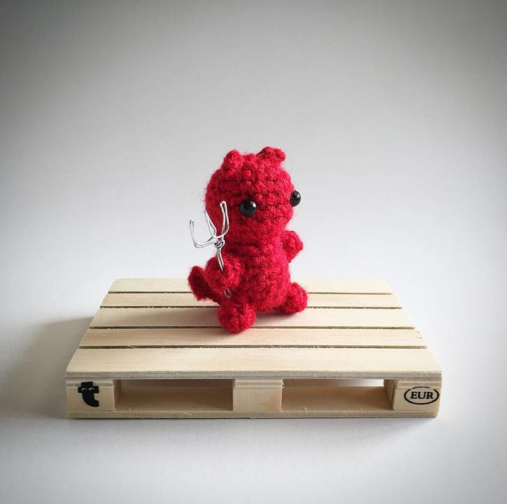 Little Red Devil Crochet Amigurumi Plush @lemonyarncreations