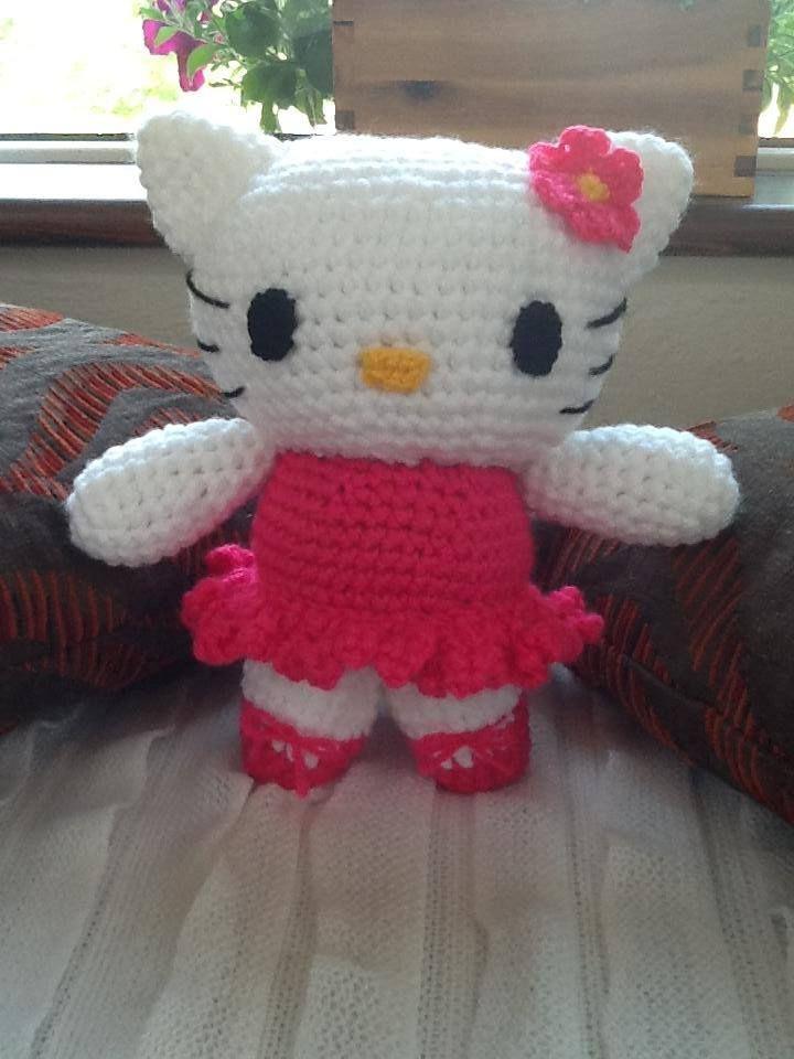 Handmade Hello Kitty Doll. Get her here - https://www.facebook.com/CBKnits