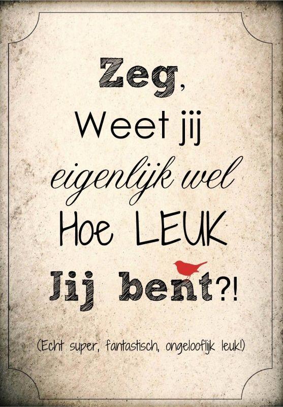 #leuk #spreuk #citaat #nederlands #teksten #citaten #lief