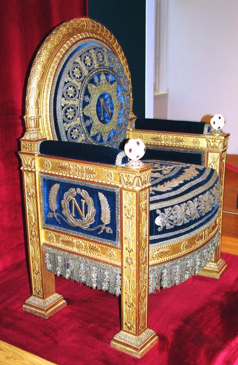 Napoleon's throne at the Twilleries.