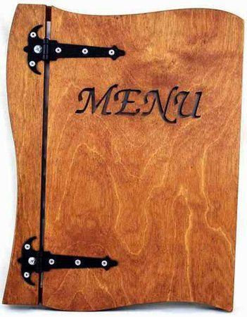 Holz Menu A4