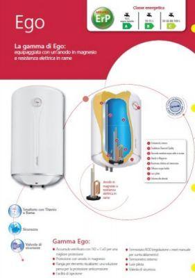 ATLANTIC Boiler scaldabagno elettrico 15 litri sottolavello con spina , valvola sicurezza e indicatore scalda acqua