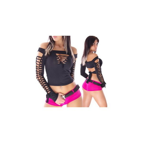 Tops ❤ liked on Polyvore featuring tops, blue top and sexy tops