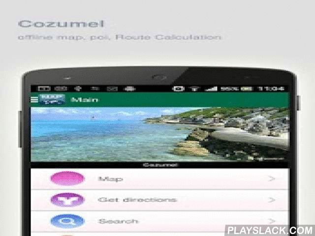 Cozumel Map Offline  Android App - playslack.com ,  Cozumel (Mexico) Map offline - is an application that allows you to view online and offline Cozumel map in yourmobile phone. 2 types of maps are attached in application: 1st map: Offline map. You can download it in Wi-fi service area and use without Internet.2nd Map: Online map. Allows you to search for addresses, save points on the map. Map access is free of charge.Application functions are available: 1. Add any objects to your favorites…