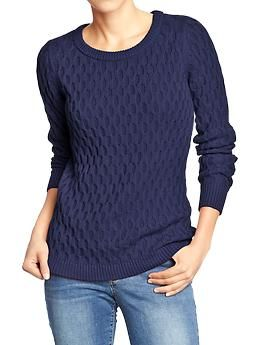 Women's Honeycomb-Knit Sweaters | Old Navy