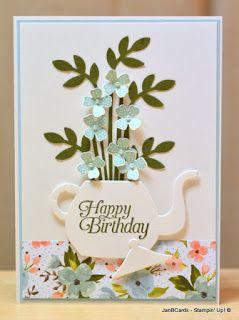 JanB Handmade Cards Atelier: Teapot of Flowers