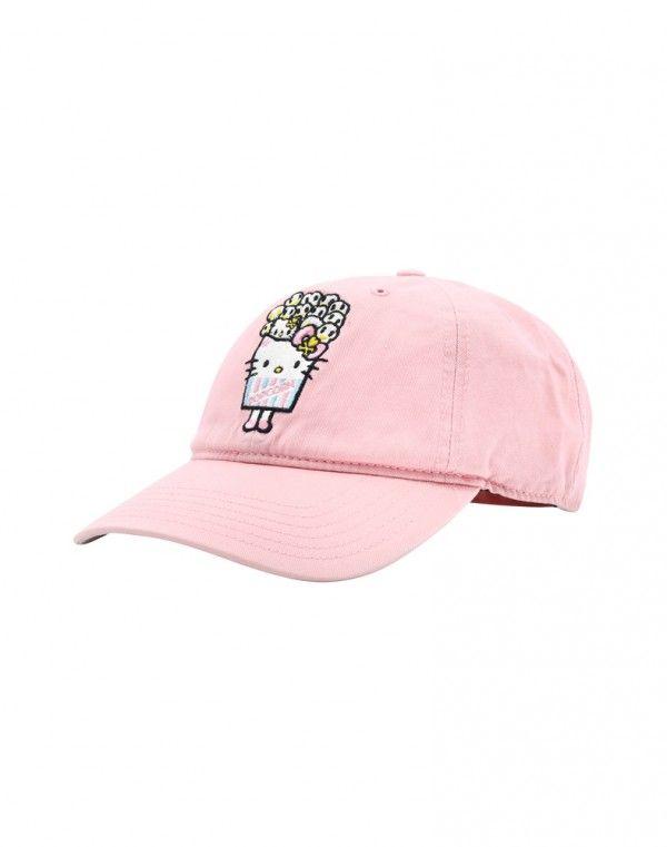 tokidoki x Hello Kitty Popcorn Kitty Women s Adjustable Dad Hat ... d241acf7409f