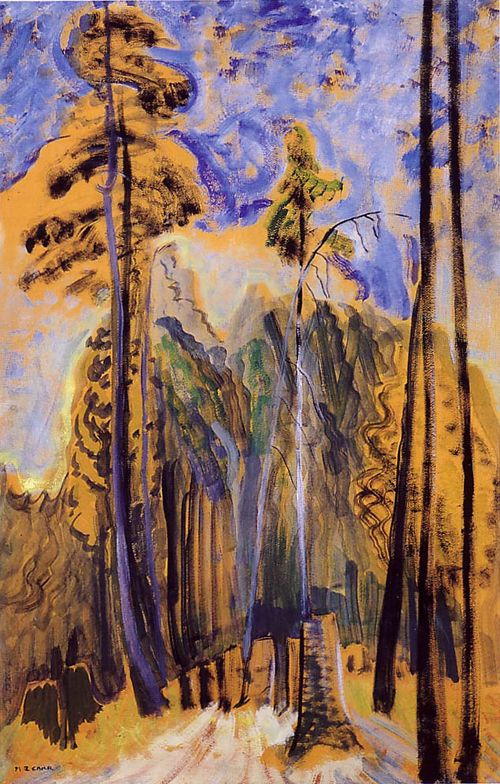 Emily Carr, Forest, c. 1940, Oil on paper, 91 x 59.5 cm, McMichael Canadian Art Collection, Kleinberg, Ontario.