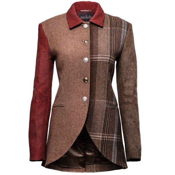 Multi Tweed Parry Jacket (€485) ❤ liked on Polyvore featuring outerwear, jackets, coats, blazers, coats & jackets, tweed blazers, blazer jacket, brown tweed jackets, tweed jacket and wool tweed blazer