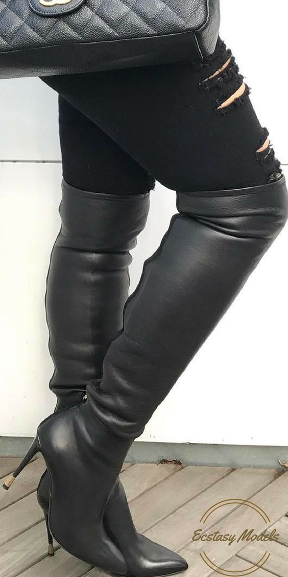 Tom Ford Leather Over The Knee Boots