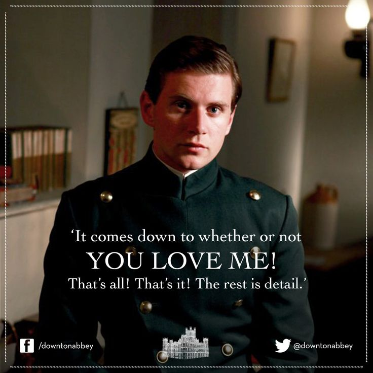 Downton Abbey - Tom Branson and Sybil Crawley it comes down to weather or not you love me!