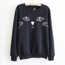 This sweatshirt is perfect for me because i like cats