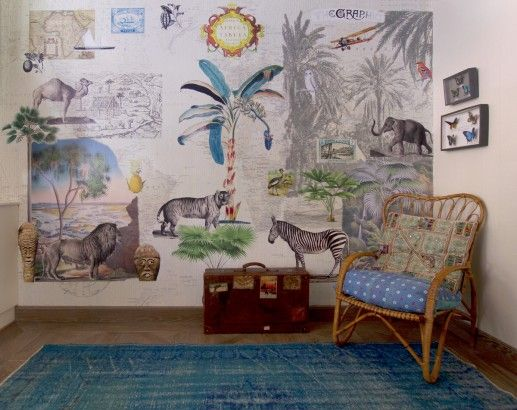Inspirador #PapelDePared de la colección Room Seven Travel Memories de @coordonne | Disponible en Innova | #Selva