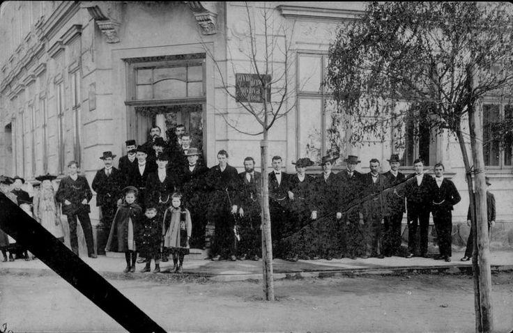 1908 Nýřany, hotel Zlatý orel. Zdroj: nyrany.cz