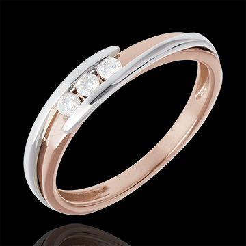 Trilogy Bipolare oro rosa-oro bianco  http://it.edenly.com/anelli-sottili/trilogy-bipolare-oro-rosa-oro-bianco-diamanti,3185,7.html