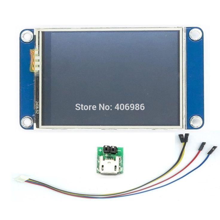 """英語バージョンnextion 2.4 """"tft 320 × 240タッチスクリーンuart hmiスマートラズベリーパイlcdモジュールディスプレイ用arduino tft FZ1716"""