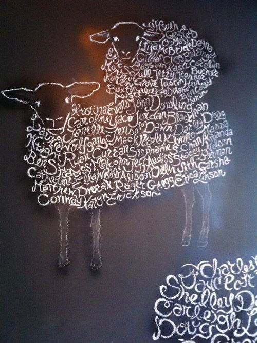 sheep art @ mission cheese!