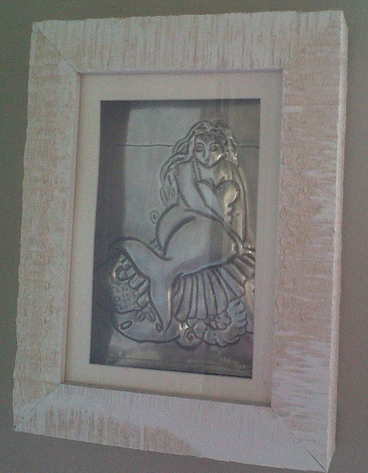 pewtered mermaid - framed