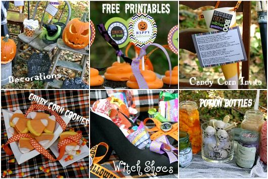 Halloween - Printables, Witch shoes, Potion Bottles
