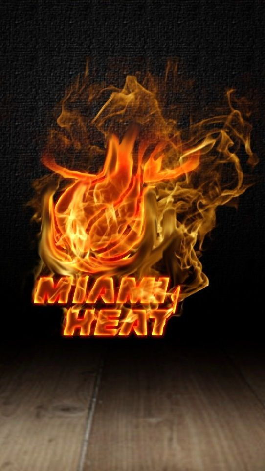 Burning Miami Heat Logo iPhone 5 5S 5C HD Wallpaper and Background